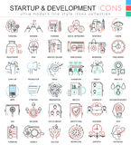 Vector Startup and development color line outline icons for apps and web design. Startup business icons Royalty Free Stock Photo