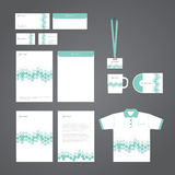 Vector stationery corporate identity template. Vector stationery corporate template for business Royalty Free Stock Photo