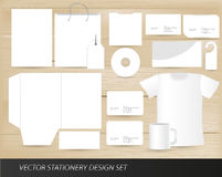 Vector stationery design set Royalty Free Stock Images