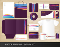 Vector stationery design set Stock Image