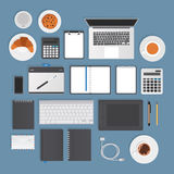 Vector stationery objects Royalty Free Stock Image