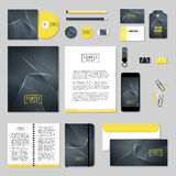 Vector stationery template design with Abstract polygonal space low poly. Corporate identity business set design. Vector stationery template design with Abstract Stock Images
