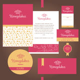 Vector stationery template design for cafe, sweets, confectioner Royalty Free Stock Photos