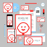 Vector stationery template design with candy elements Stock Photography