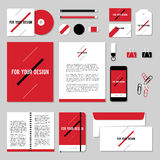 Vector stationery template design with diagonal line. Corporate identity business set design. Vector stationery template design with diagonal line. Documentation Royalty Free Stock Photography
