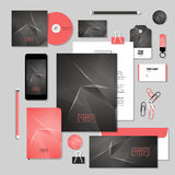 Vector stationery template design with diamond shape. Corporate identity business set design.  Vector stationery template design with diamond shape Royalty Free Stock Photo