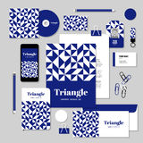 Vector stationery template design with Rhombus and square shape. Corporate identity business set design. Vector stationery template design with Rhombus and Stock Images