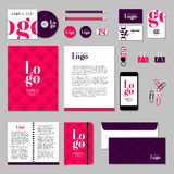 Vector stationery template design with sample logo and text elements Stock Image