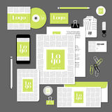 Vector stationery template design with sample logo and text elements Stock Images