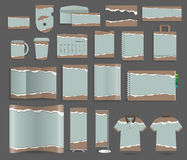 Vector stationery template design set with torn paper Stock Photo