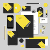Vector stationery template design with Stickers Stock Images