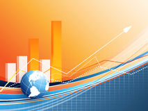 Vector statistic backdrop. Eps10 Royalty Free Stock Image