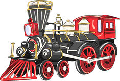 Vector. Steam locomotive. Stock Photography