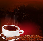 Vector steaming cup of coffee Royalty Free Stock Photo