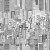 Vector stedelijk architectuur naadloos patroon Stock Foto