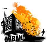 Vector stedelijk art. royalty-vrije illustratie