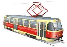 Vector stedelijke tram Stock Afbeeldingen