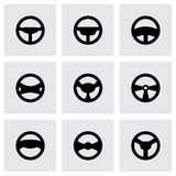 Vector steering wheels icon set Stock Images