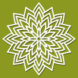 Vector Stencil Flower. Template for interior design, layouts wed Stock Images