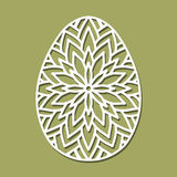 Vector Stencil lacy Easter egg with carved openwork pattern.  Royalty Free Stock Image