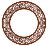 Vector Stencil lacy round frame with carved openwork pattern. Template for interior design, layouts wedding invitations, gritting. Cards, envelopes, decorative Stock Image