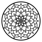 Vector Stencil lacy round ornament Mandala with carved openwork Royalty Free Stock Photography