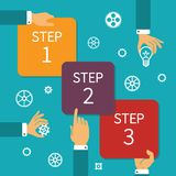 Vector step by step timeline infographic scheme Stock Photos