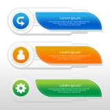 Vector steps, progress banners with colorful banner royalty free illustration