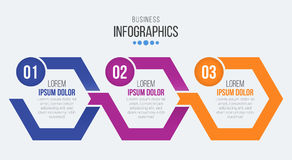 Vector 3 steps timeline infographic template with arrows. Vector illustration Vector Illustration