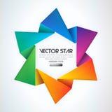 Vector ster Royalty-vrije Stock Foto's