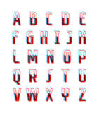 Vector Stereo Colors Retro Alphabet. Isolated contemporary alphabet set with stereo effect Vector Illustration
