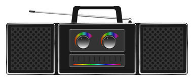 Vector stereo radio Stock Images