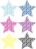 Vector sterren Stock Afbeeldingen