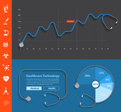 Vector stethoscope design dashboard template Stock Image