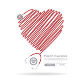 Vector stethoscope heart design Royalty Free Stock Images