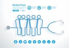Vector stethoscope medical team Stock Photos