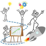 Vector stick man concept business idea success stock illustration