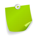 Vector sticker Royalty Free Stock Image