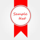 Vector Sticker And Tape Royalty Free Stock Image