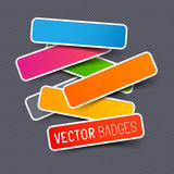 Vector sticker collection Stock Photo