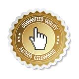 Vector sticker - gewaarborgde kwaliteit Royalty-vrije Stock Afbeelding