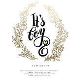 Vector  sticker with gold foil. Royalty Free Stock Photography