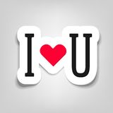 Vector sticker i love you. Vector i love you. This is file of EPS10 format Stock Photo