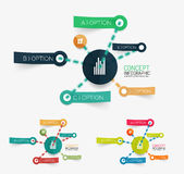 Vector sticker infographic sheme set Stock Image
