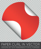 Vector Sticker with Paper Curl with Shadow . Stock Image
