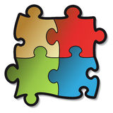 Vector sticker of puzzle Stock Images