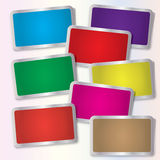 Vector Sticker Set Stock Photo