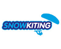 Vector sticker snowkiting Stock Photography