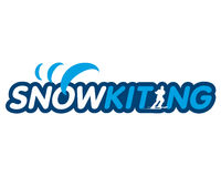 Vector sticker snowkiting Stock Photo