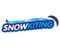 Vector sticker snowkiting Royalty Free Stock Images